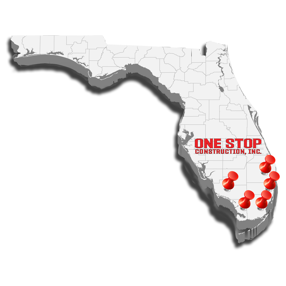 Map Of Areas Served in Florida
